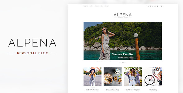 Alpena - Personal Blog Template            TFx