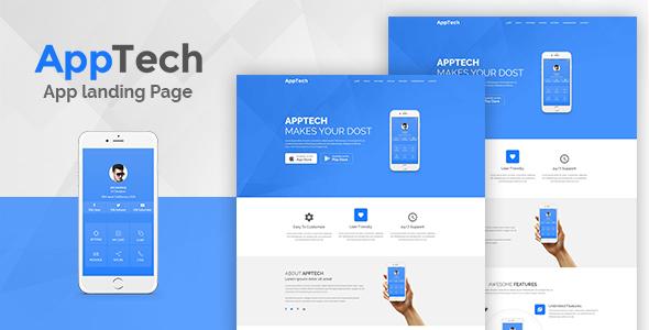 AppTech - App Landing PSD Template            TFx