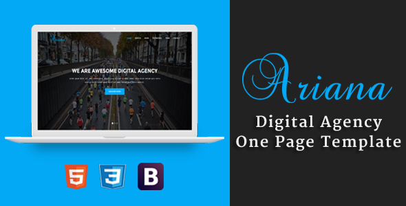 Ariana - Digital Agency One Page Template            TFx