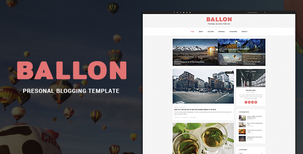 Balloon - Personal Blog PSD Template            TFx