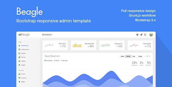 Beagle - Responsive Admin Template            TFx