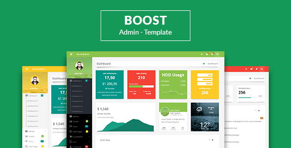 Boost - Responsive Bootstrap3 Admin Template            TFx