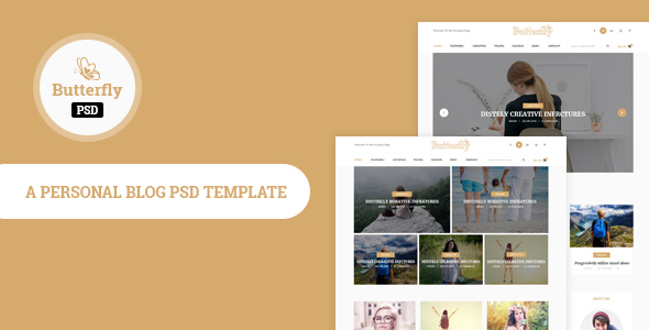 Butterfly- Personal Blog PSD Template            TFx