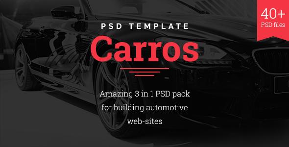 Carros — Auto Service / Tuning Center / Parts Retailer PSD Template            TFx