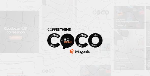Cocobean - Responsive Coffee Magento Theme            TFx