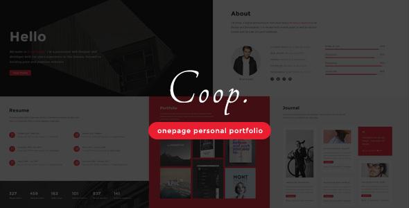 Coop - Onepage Personal Portfolio Joomla Theme            TFx