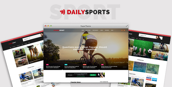 DailySports - Sports Magazine and Blog PSD Template            TFx
