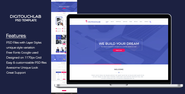 Digitouchlab PSD Template            TFx