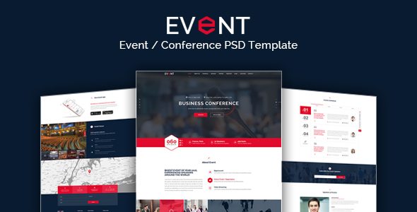 EVENT - Conference and Event PSD Template            TFx