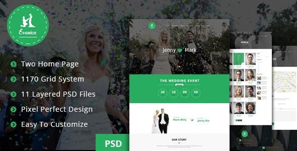 Evanica - General Wedding Site Theme            TFx