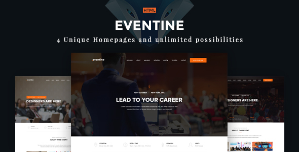 Eventine - Conference & Event OnePage  Theme            TFx