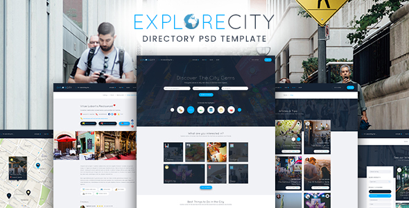 Explore City - Directory Listing PSD Template            TFx