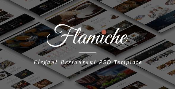 Flamiche - Elegant Restaurant PSD Template            TFx