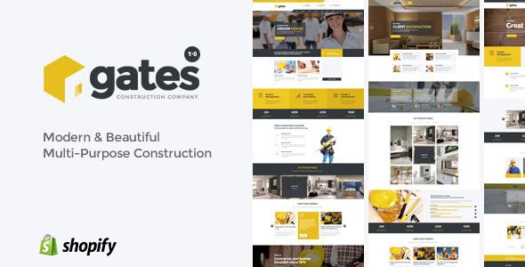 Gates - Multi-Purpose Construction Website Shopify Theme            TFx
