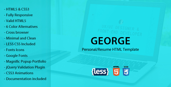 George - Personal/Resume Template            TFx