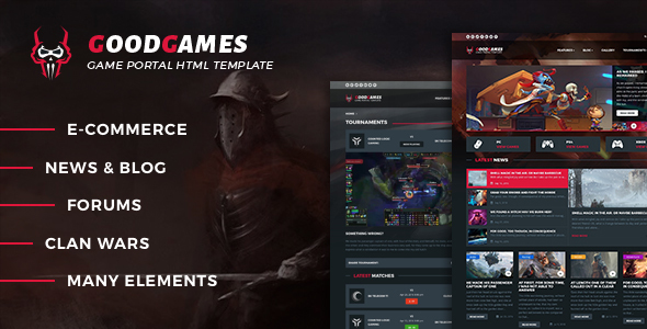 GoodGames - Portal / Store HTML Gaming Template            TFx