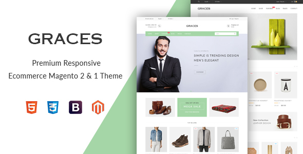 Graces - Responsive Magento 1 & 2 Theme            TFx