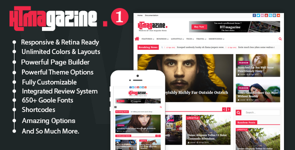 HTmagazine - Moderne Magazine,News & Blog WordPress Theme            TFx