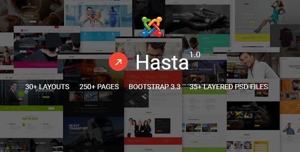 Hasta - Responsive Multipurpose Joomla Theme            TFx