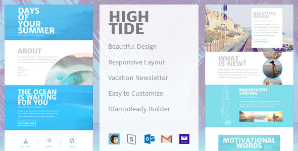 High Tide - Creative Email Newsletter            TFx