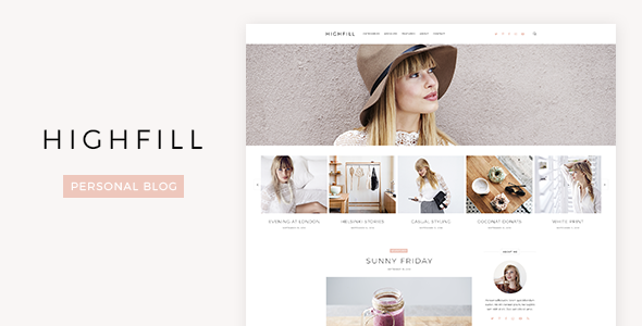 Highfill - Personal Blog PSD Template            TFx