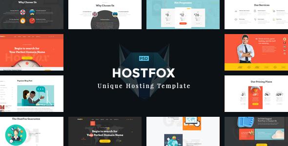 HostFox - Unique Hosting PSD Template            TFx