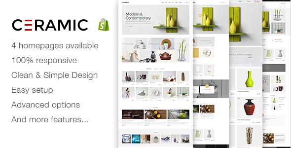 JMS Ceramics - Responsive Shopify Theme            TFx