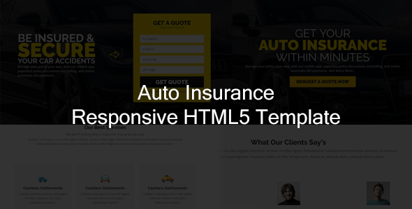 Jr. Auto Insurance - Landing Page HTML5 Bootstrap Template            TFx
