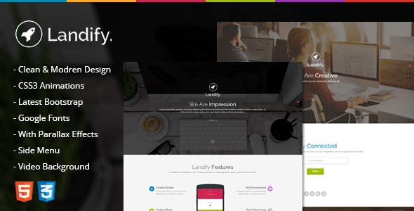 Landify - One Page Parallax            TFx