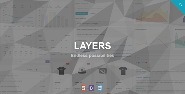 Layers - Responsive Admin Dashboard Template            TFx