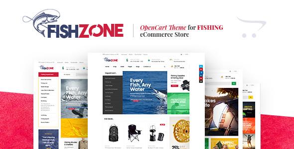 Lexus Fishzone - Multipurposes Opencart theme            TFx