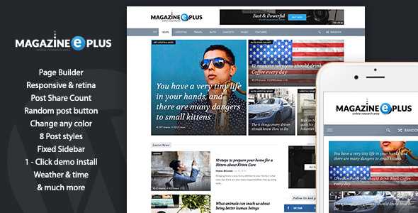 MagazinePlus - WordPress Premium theme for News / Magazine / Newspaper            TFx