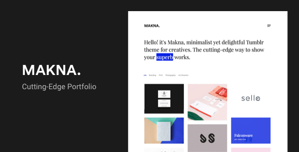 Makna | Minimalist and Delightful Portfolio Tumblr Theme            TFx