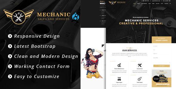 Mechanic - Car Service & Workshop Bootstrap Drupal 8 Theme            TFx