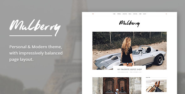 Mulberry - Modern Blog PSD Template            TFx