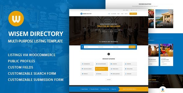 Multi-Purpose Directory WordPress Theme - Wisem            TFx