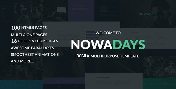NowaDays - Multipurpose One/Multipage Creative Agency Joomla Theme            TFx