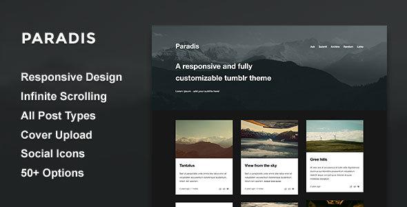 Paradis - A Minimalistic Grid Theme            TFx