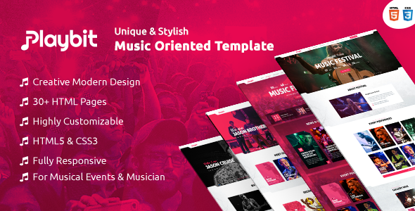 Playbit - Bootstrap Music Template            TFx