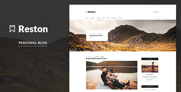 Reston - Personal Blog PSD Template            TFx