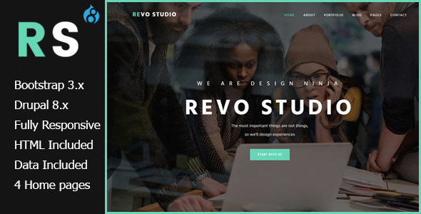 Revo Studio - Multipurpose Drupal 8 Theme            TFx