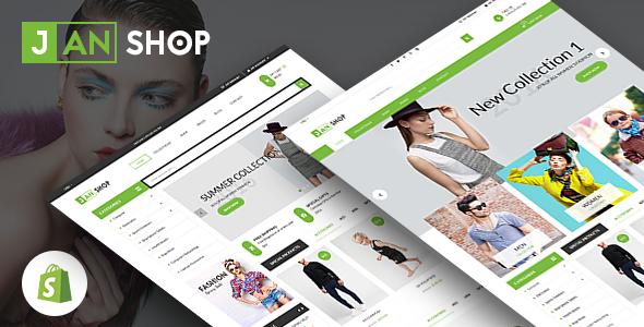 SP JanShop - Clean and responsive Shopify Theme            TFx