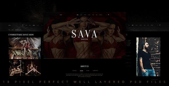 Sava — Dance school | Dance club PSD Template            TFx