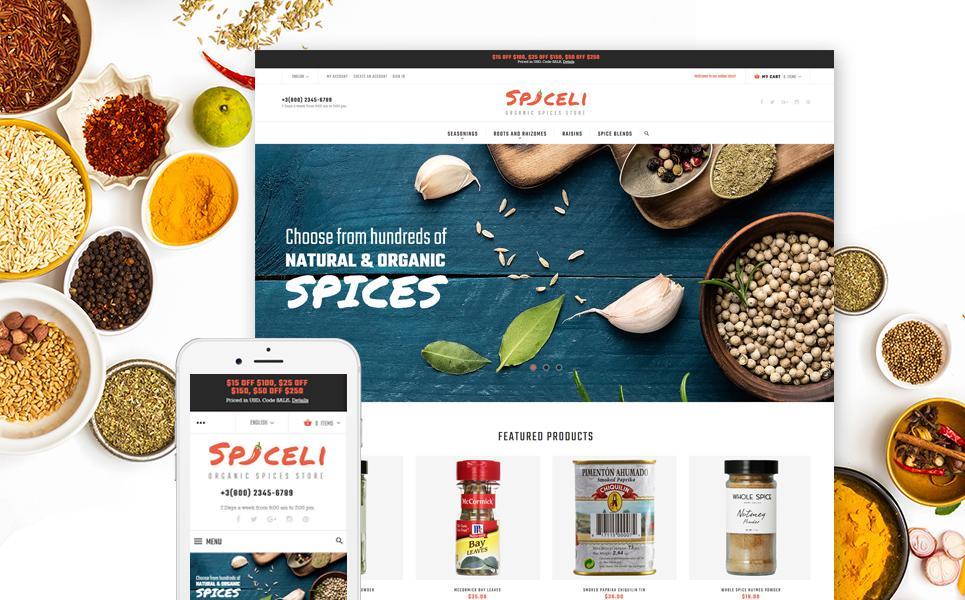 Spice Shop Responsive Magento Theme TMT
