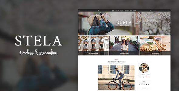 Stella - Personal Blog Template            TFx