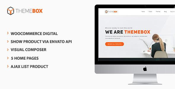 Themebox - Unique Digital Products Ecommerce WordPress Theme            TFx