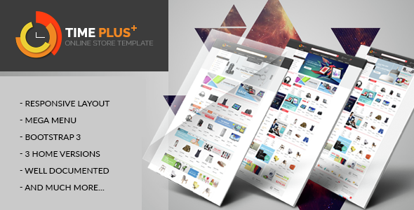 Timeplus - Mega Store Bootstrap Template            TFx