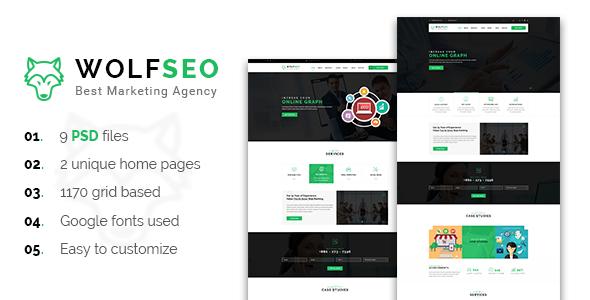 WOLFSEO - Digital Marketing Agency PSD Template            TFx