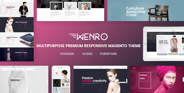 Wenro - Multipurpose Responsive Magento 2 Theme | 16 Homepages Fashion, Furniture, Digital and more            TFx
