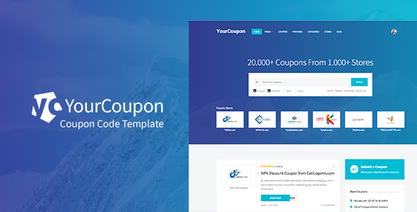 YourCoupon | Coupon Code, Discount, Deal Responsive Site Template            TFx
